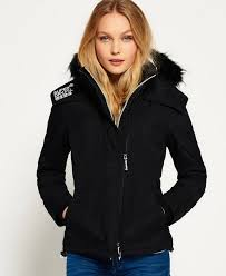superdry hooded fur sherpa wind er jacket black ecru superdry hoos xs superdry