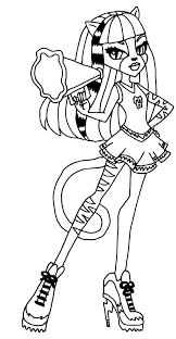 Meowlody Monster High Coloring Page