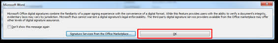How To Digitally Sign A Word Document Use Your Digital Certificate With Microsoft Word 2010 Information