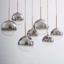 sculptural glass globe 7 light chandelier mixed west elm