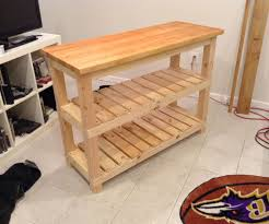Butcher Block Kitchen Island Diy Butcher Block Kitchen Island 7 Steps With Pictures