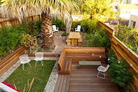 View in gallery Small landscaped backyard