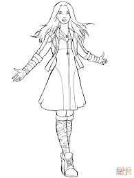 Small Picture Avengers Scarlet Witch coloring page Free Printable Coloring Pages