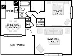 Small One Bedroom Apartment Floor Plans Apartment Modern Single Bedroom Apartment Floor Plans 14 Single