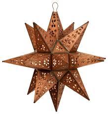 tin moravian star pendant light