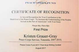 first peace corps fund writing award winners peace corps worldwide congratulations to everyone who submitted an essay or poem the winners are