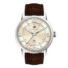 tommy hilfiger watches h samuel tommy hilfiger men s cream dial brown leather strap watch product number 2023830