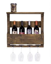 Wine Glass Hangers Under Cabinet Kitchen Metal Wall Mounted Wine Glass Rack With Bottle Stand And