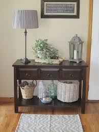 hall entryway furniture. baskets on lower shelf of entry table hall entryway furniture