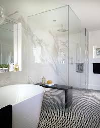 modern master bathrooms. White And Black Modern Master Bathroom Modern Master Bathrooms