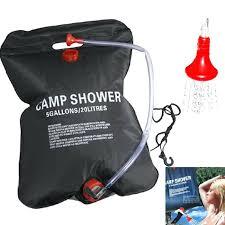 solar shower bag garden sprinkler super solar camp hiking shower 5 gallon water camping shower bag solar shower
