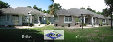 before after exterior painting photo