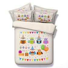 Cartoon 3D Print Bedding Sets Owl Birds Duvet/Quilt Cover Sets ... & Cartoon 3D Print Bedding Sets Owl Birds Duvet/Quilt Cover Sets Twin Queen  King Sizes Adamdwight.com