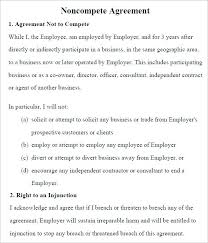 Noncompete Clause Ready To Use Non Compete Agreement Templates Template Lab Sample