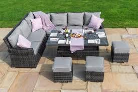 image corner dining set. Kingston Corner Sofa Dining Set With Rising Table By Maze Rattan Image