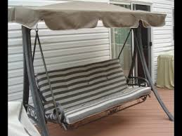 Martha Stewart Patio Swing Cushions Seat Support and Canopy