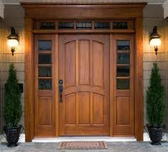 front door styles. Large Single Front Wood Door With Transom And Sidelights Styles