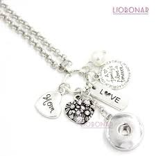 10pcs new arrival whole interchangeable 18mm snap jewelry mom pendant charm necklace heart snap necklace for