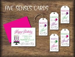 5 senses gift ideas 33 inspiring five s birthday card instant