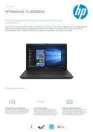 HP Notebook 15-db0085nt