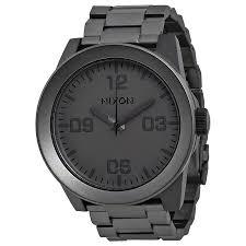 nixon corporal ss matte black ip stainless steel men s watch nixon corporal ss matte black ip stainless steel men s watch a3461062