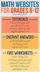 best math help websites ideas study websites math websites for grades 6 12 great for homeschool math stem