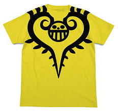 The season began broadcasting in japan on fuji television on july 18, 2010 and ended on september 25, 2011. One Piece Trafalgar Law Tattoo T Shirt Yellow S Anime Toy Hobbysearch Anime Goods Store
