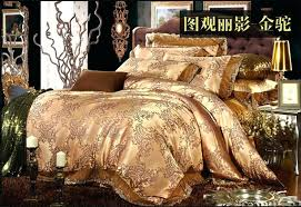 luxury gold camel lace satin jacquard bedding set king queen size with regard to best comforter