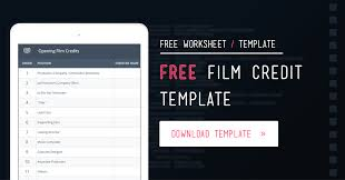 Free Film Credits Order Template and Worksheet | StudioBinder