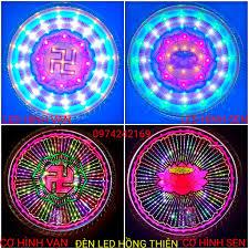Đèn hào quang cơ và led , hình sen và hình vạn