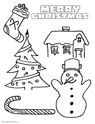 Easy Printable Christmas Coloring Pagesllll L