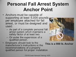 Personal Fall Arrest System Must Be Attached To