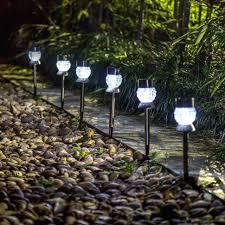 led walkway lights. Led Pathway Lights Solar Outdoor Garden Walkway Lamp Stainless Steel 6 Pack Smartyard