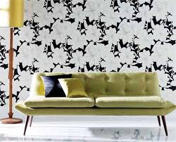 Small Picture White and Black Wallpaper Modern Interior Decorating Ideas