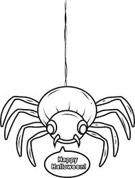 Small Picture Free Printable Halloween Spider Coloring Page for Kids 4