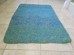 How To Knit A Rug Cotton Bath Mat Free Knitting Pattern
