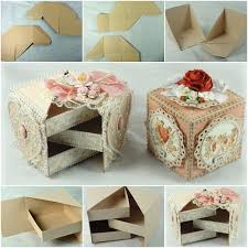 Decorating Cardboard Boxes How to DIY Secret Jewelry Box from Cardboard Fab Art DIY 34
