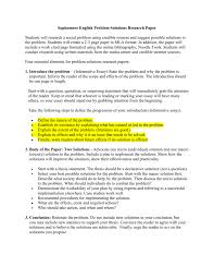 Topics For Proposing A Solution Essay Research Paper Proposal Example High School