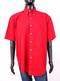 Details About Ralph Lauren Mens Shirt Short Sleeve Red Size L