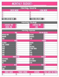 Free Printable Monthly Budget Worksheet Budgeting