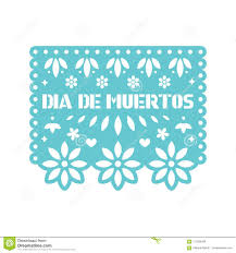 Papel Picado Designs For Day Of The Dead Bright Paper With Cut Out Flowers And Geometric Shapes