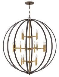 euclid 16 light chandelier spanish bronze