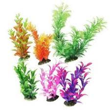 <b>uxcell</b> Aquarium Fish Tank Plastic Water Lily Plant Decor, <b>10</b>-Inch ...