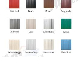 Metal Building Colors Chart Construction Archives The Nc Builders
