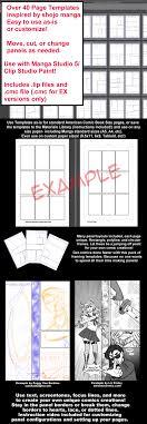 manga page size manga studio 5 page templates shoujo manga pack