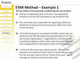 Star Method Resume