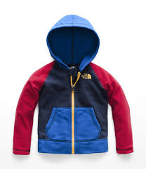 The North Face Kids Baby Boys Glacier Full Zip Hoodie Toddler Cosmic Blue Turkish Sea 5t