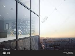 See Through Glass Contemporary Glass Building Exterior And See Through Office