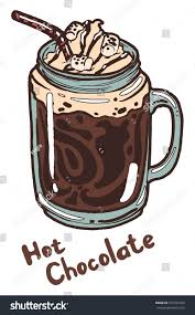 hot chocolate with whipped cream clip art. Plain Art Hot Chocolate With Whipped Cream Syrup Marshmallows And Drinking Straw In  A Transparent Glass Inside Chocolate With Whipped Cream Clip Art U