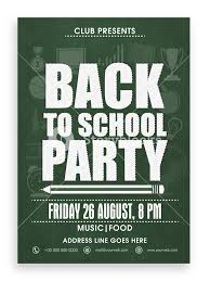 Back To School Invitation Template Back To School Party Template Banner Flyer Or Invitation Card
